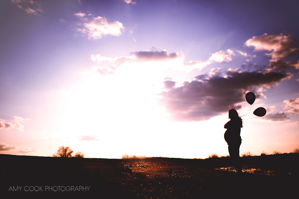 Maternity silhouette by Amy Cook Photography