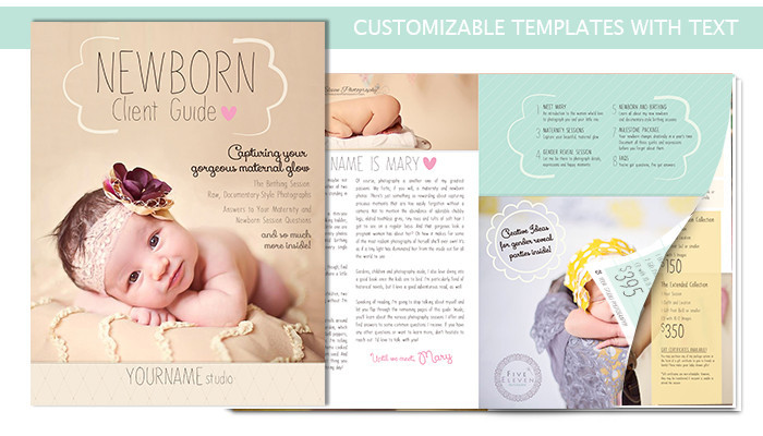 Newborn welcome packet template includes